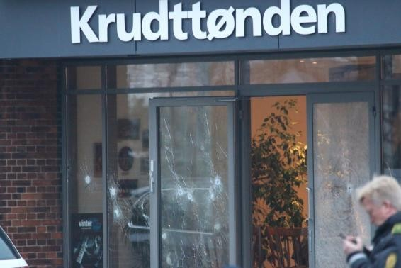 Swedish cartoonist Lars Vilks, who has faced death threats for caricaturing prophet Muhammad was present at the cafe,when gunman opened fire through the glass window on Saturday.