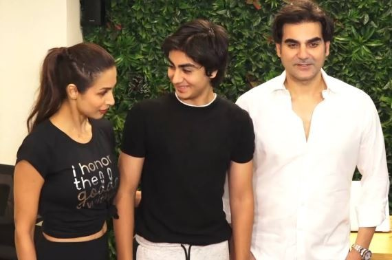 Malaika Arora, Arhaan and Arbaaz Khan