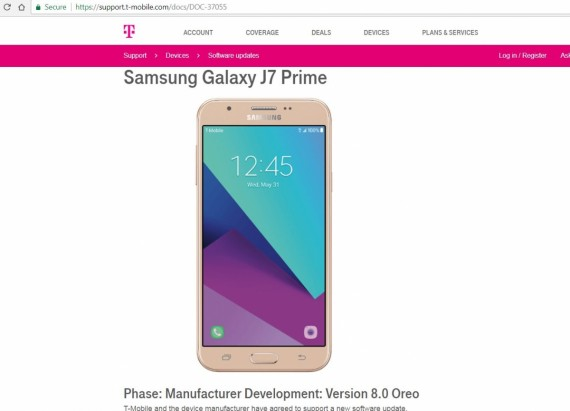 T-Mobile Samsung Galaxy J7 Prime, Tab E 8 Android Oreo