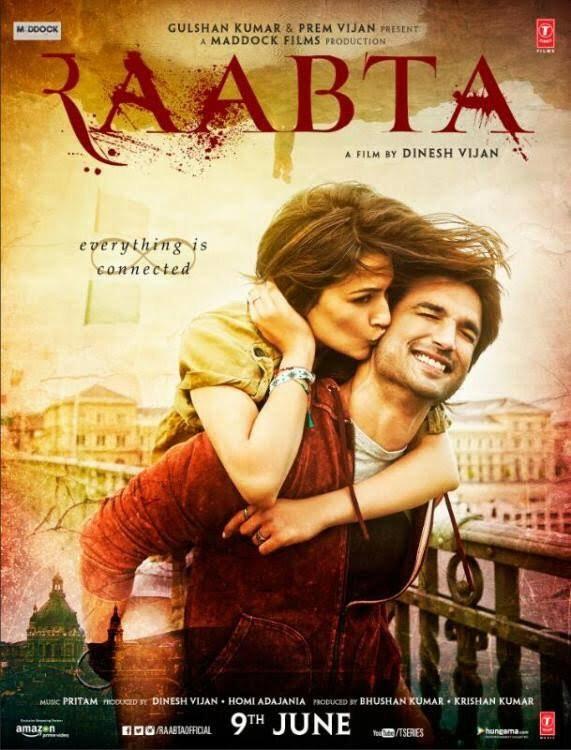 Sushant Singh Rajput,Kriti Sanon,Raabta first look poster,Raabta first look,Raabta,Raabta poster,Raabta movie poster