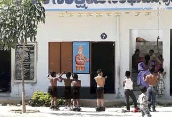 Students stripped naked by teacher for coming late in Chaitanya Bharathi School, Punganur, Chittoor, Andhra Pradesh