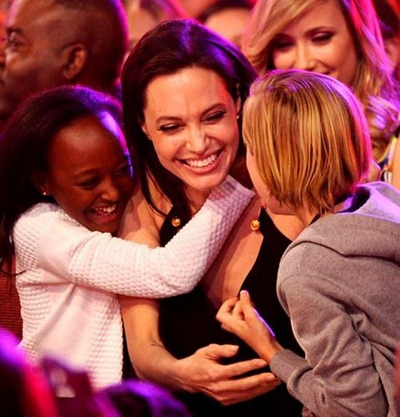 Angelina Jolie spends quality time with her kids.
