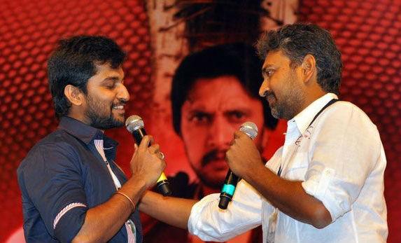Nani and SS Rajamouli at Eega audio launch