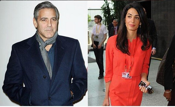 Clooney and fiance Amal