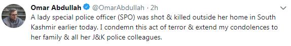 Omar abdullah tweet