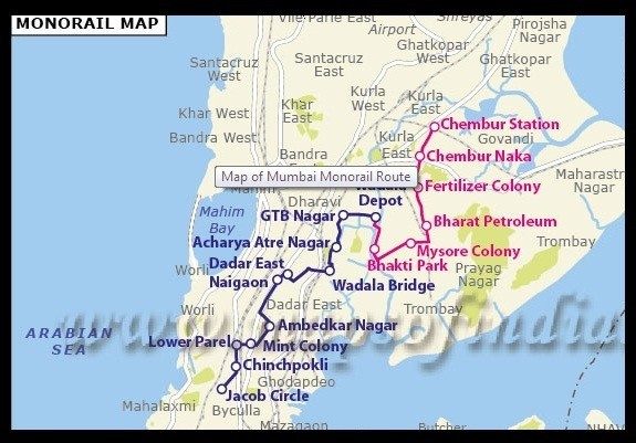 Mumbai Monorail Map
