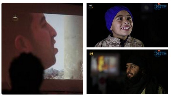 The dreaded Islamic State terrorist group set up huge projector screen in to show people how the Jordanian pilot was burned alive.