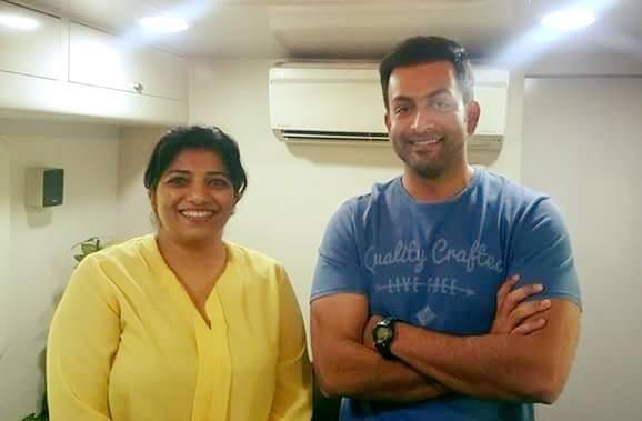 Roshni Dinaker and Prithviraj Sukumaran