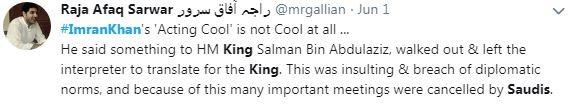 imran khan saudi king