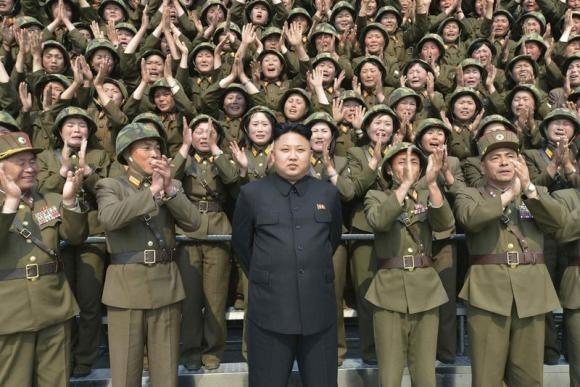 North Korean Leader Kim Jong Un Guides the Multiple-Rocket Launching Drill of Women's Sub-units Under KPA Unit 851