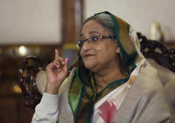 Bangladesh Prime Minister Sheikh Hasina on 6 January 2014