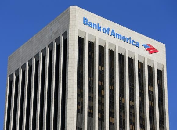A Bank of America sign is shown on a building in downtown Los Angeles, California January 15, 2014.