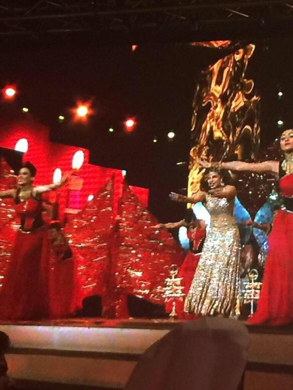 Priyanka Chopra dance performance at AIBA 2015,Priyanka Chopra rides a hot air balloon to start her performance at AIBA 2015,Priyanka Chopra at AIBA 2015,actress Priyanka Chopra at AIBA 2015,AIBA 2015,Priyanka Chopra performance at AIBA 2015,Priyanka Chop
