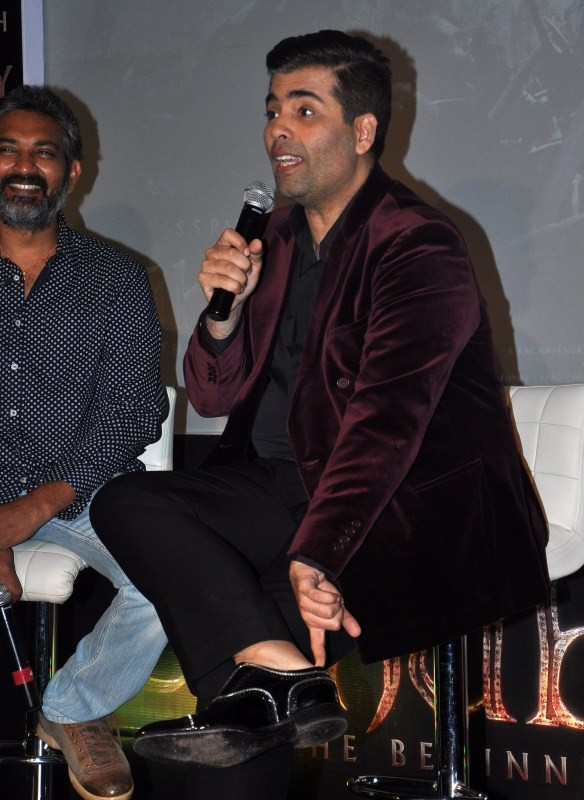 Baahubali,Baahubali Song Launch,Baahubali Song Launch pics,Baahubali Song Launch images,Baahubali Song Launch photos,Baahubali Song Launch stills,S. S. Rajamouli,Karan Johar