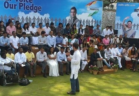 Rahul Gandhi addressing the youth at Bangalore