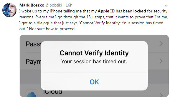 Apple ID locked