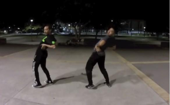 Jeffrey Caluag and Dimitry Mendez dance to Nicki Minaj's Anaconda