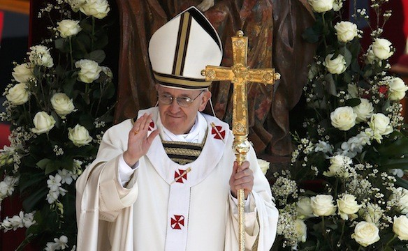 Pope Francis during the Easter Mass at St Peter's Square