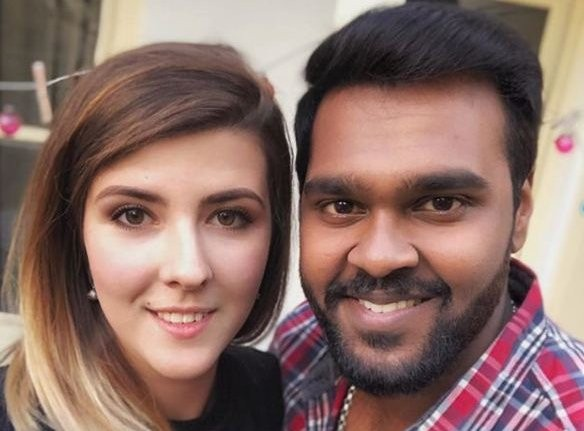 Shanmuga Pandian with his rumoured girlfriend