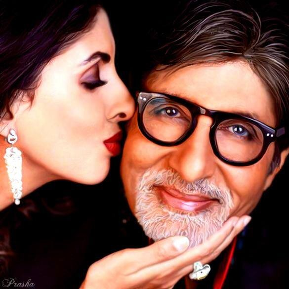 Amitabh Bachchan and Shweta Nanda