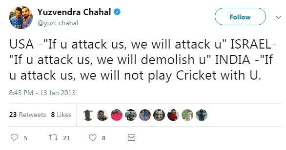 Yuzvendra Chahal tweet