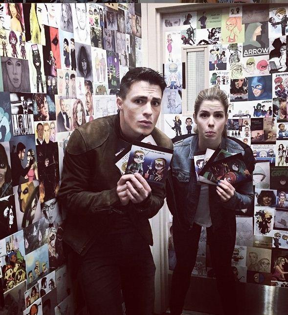 Emily Bett and Colton Haynes