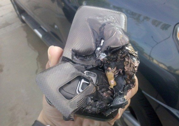 mobile phone explodes