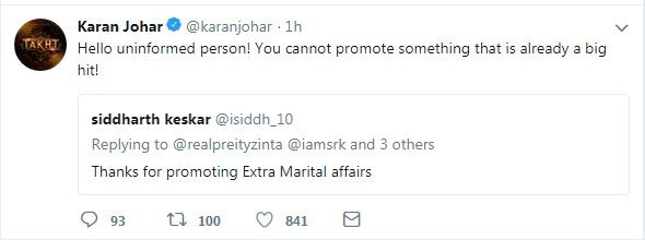 Karan Johar twitter