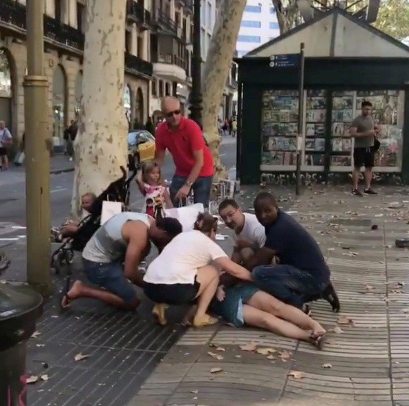 Barcelona,Van plows through crowd in Barcelona,terrorist attack,Barcelona terror attack