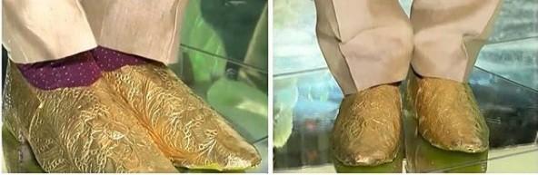 Pakistani groom's golden shoe