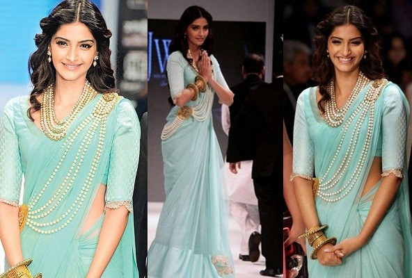 Sonam Kapoor wearing saree