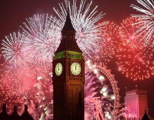 New years fireworks in London