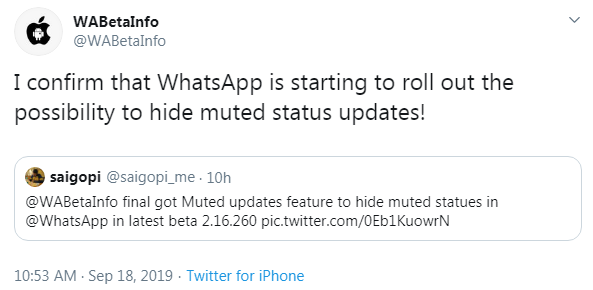 Whatsapp Status Update Upcoming Change Lets You Hide