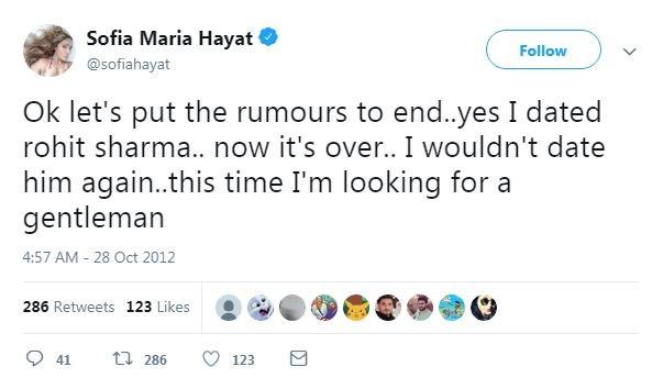 Sofia Hayat old tweets
