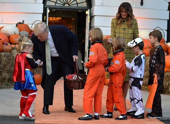 Halloween 2018,Halloween,Halloween celebration,Donald Trump and First Lady Melani,Donald Trump,Lady Melania Trump,Lady Melania