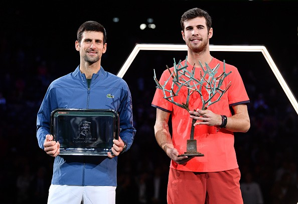 Karen Khachanov,Novak Djokovic,Karen Khachanov beats Novak Djokovic,Paris Masters crown,Paris Masters title,Paris Masters 2018