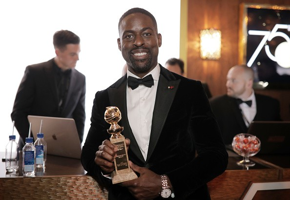 Sterling K. Brown,black actor,TV Drama at Golden Globes 2018,TV Drama at Golden Globes,Golden Globe,Golden Globe  2018,Golden Globe best actor