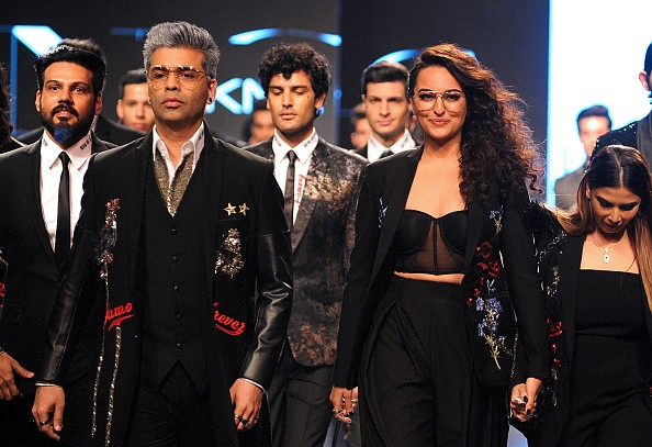 Lakme Fashion Week 2018,lakme fashion week,Karan Johar and Sonakshi Sinha,Karan Johar,Sonakshi Sinha,Falguni and Shane Peacock