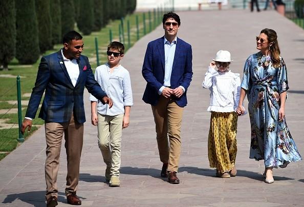 Sophie Gregoire,Justin Trudeau,Ella-Grace,Justin Trudeau in Taj Mahal,Canadian Prime Minister