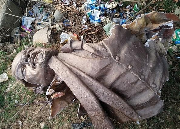 Lenin statue,Lenin,Tripura Lenin statue brought down,Lenin statue demolished,Tripura,Bharatiya Janata Party,BPJ