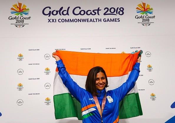 25m pistol shooting,CWG 2018,commonwealth games 2018,Heena Sidhu,Manu Bhaker Heena Sidhu Commonwealth Games,Heena Sidhu pics,Heena Sidhu images