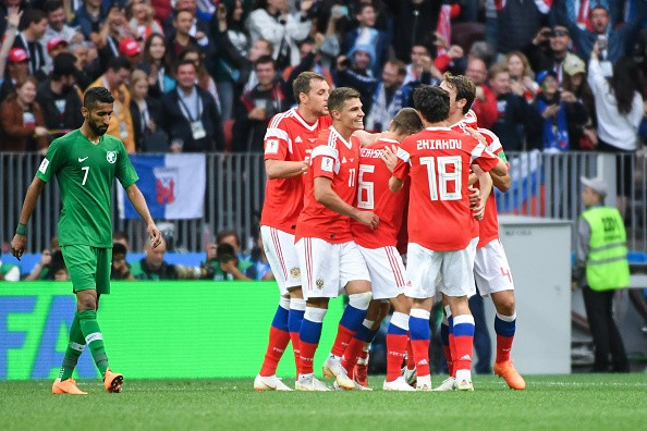 Russia,Russia overwhelm Saudi Arabia,Russia beats Saudi Arabia,FIFA World Cup,FIFA World Cup 2018,2018 FIFA World Cup,FIFA World Cup opening match,Luzhniki Stadium