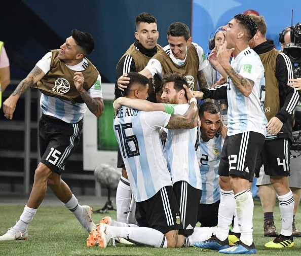 Marcos Rojo,lionel messi,Argentin,FIFA World Cup,FIFA World Cup 2018,argentina beats nigeria,argentina beats nigeria by 2-1