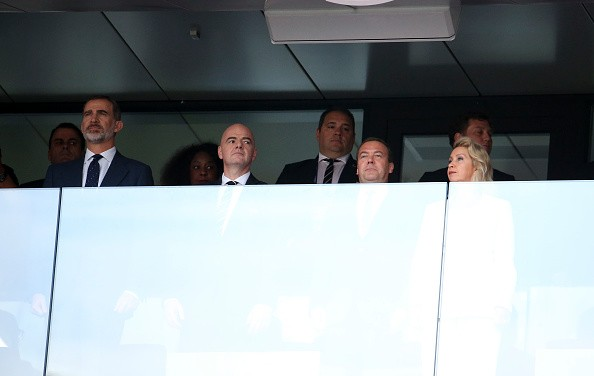 FIFA World Cup 2018,FIFA World Cup,Russian PM,Russian PM,Spanish King,Dmitry Medvedev,Felipe VI of Spain