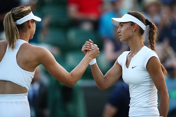 Vitalia Diatchenko,Russia's Maria Sharapova,Vitalia Diatchenko stuns Maria Sharapova,Vitalia Diatchenko beats Maria Sharapova,Wimbledon,Wimbledon 2018