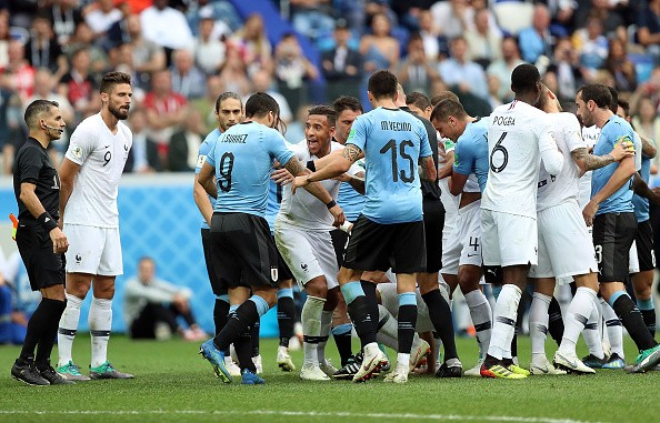 FIFA World Cup 2018,FIFA World Cup,France beats Uruguay,France trash Uruguay,France enters semis,FIFA World Cup pics,FIFA World Cup images,FIFA World Cup stills,FIFA World Cup pictures