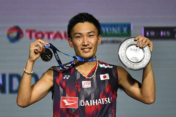 Kento Momota,Kento Momota beats Viktor Axelsen,Viktor Axelsen,Indonesia Open title,Indonesia Open title 2018,Kento Momota wins Indonesia Open title