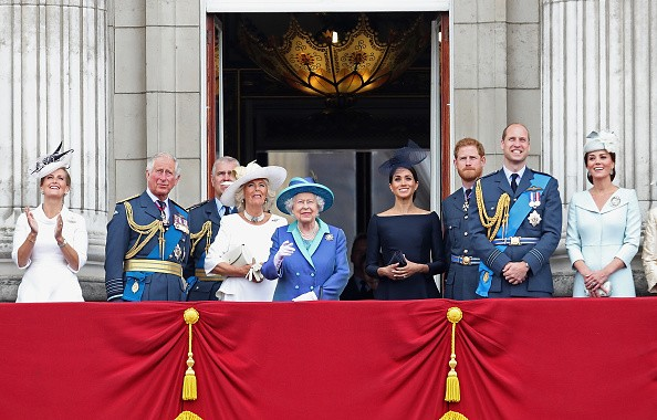 Royal Air Force,Royal Air Force 100th Anniversary,Prince Charles,Prince of Wales,Prince Andrew,Duke of York,Camilla,Duchess of Cornwall,Queen Elizabeth II,Meghan,Duchess of Sussex,Prince Harry