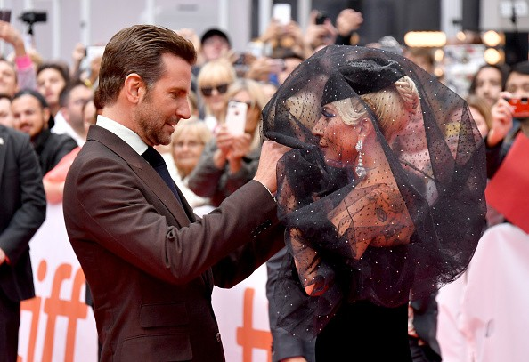Lady Gaga,actress Lady Gaga,Lady Gaga in Black dress,Lady Gaga with Bradley Cooper,Bradley Cooper,A Star is Born,A Star is Born premiere,Lady Gaga at A Star is Born premiere,Bradley Cooper at A Star is Born premiere