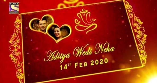 Neha - Aditya wedding card